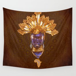 Golden Africa Wall Tapestry