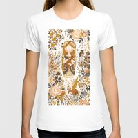 vintage T-shirts featuring The Queen of Pentacles by Teagan White
