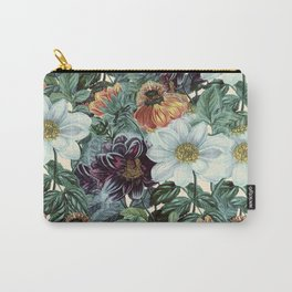 Dahlia Flowers Pattern Carry-All Pouch
