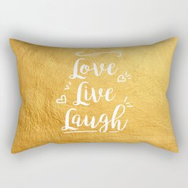 Love Live Laugh Rectangular Pillow