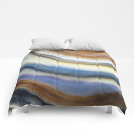 Colorful layered agate 2075 Comforters