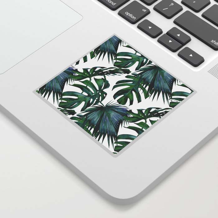 Tropical Palm Leaves Classic Sticker