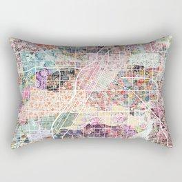 Las Vegas map Nevada Rectangular Pillow