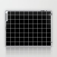 Black White Grid Laptop & iPad Skin