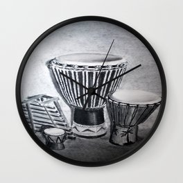 A drum family Wall Clock