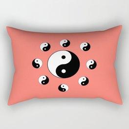 Yin and Yang 19- Tao,Zen,Taoism,Dao,Harmony,religion,buddhism,buddhist,taijitu,taiji,taoist,china Rectangular Pillow