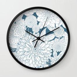 Blue Sketchbook Wall Clock