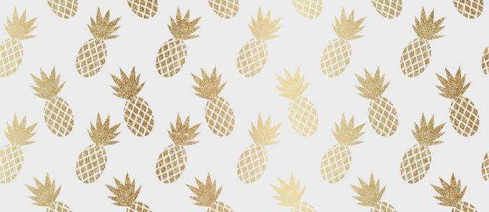 Gold Pineapple Pattern Coffee Mug
