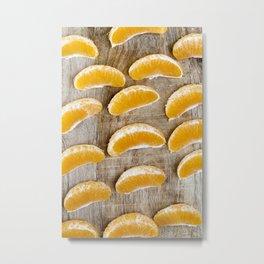 tangerine slices Metal Print