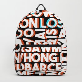 L.A. - City names typo graphic Backpack