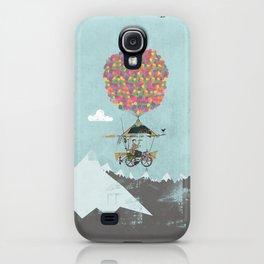 Riding A Bicycle Through The Mountains iPhone Case