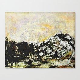 Golden mountains Canvas Print