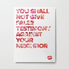The Ninth Commandment Metal Print