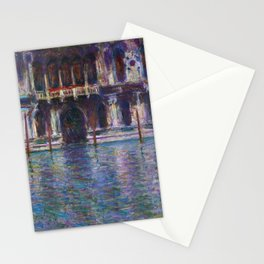 Palazzo Contarini by Claude Monet Stationery Cards