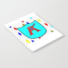 A Shield with a Letter A Notebook
