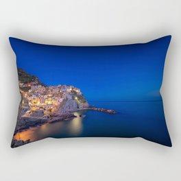 As the night falls over Manarola Rectangular Pillow