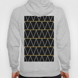 Black and gold zigzag Hoody