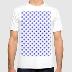 PINK & BLUE DOT Mens Fitted Tee MEDIUM White