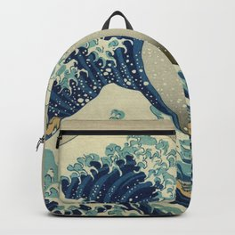 The Classic Japanese Great Wave off Kanagawa Print by Hokusai Backpack
