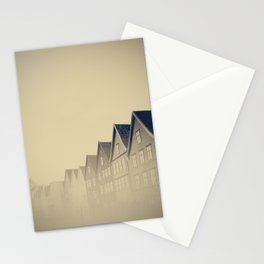 Bergen in the mist - Fine Art Travel Photography Stationery Cards