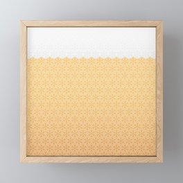 Winter foamy honeycomb Framed Mini Art Print