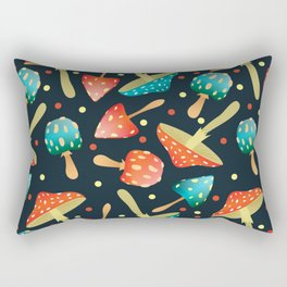 Bright mushrooms Rectangular Pillow