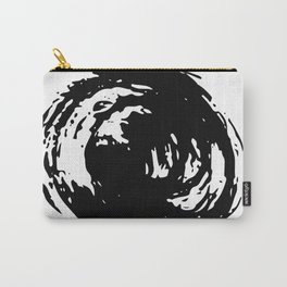 Whorl Black on White Carry-All Pouch