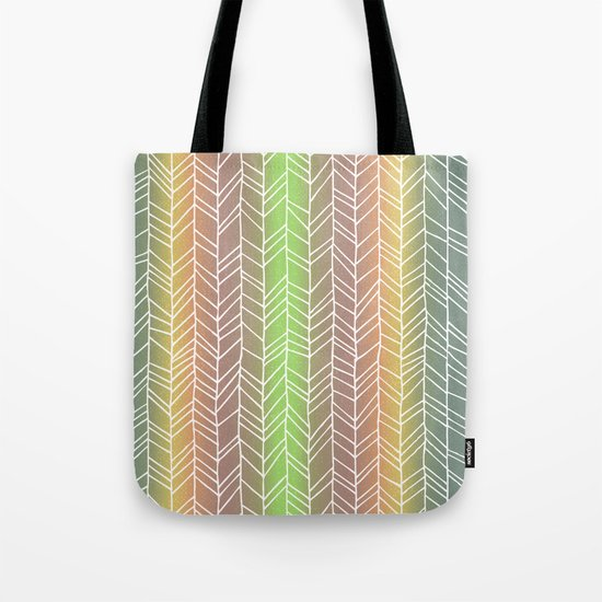 Colorful Rainbow Feather Pattern Tote Bag