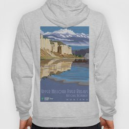 Vintage Poster - Upper Missori River Breaks National Monument, Montana (2015) Hoody