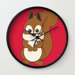 Forest Squirrel Nursery Set Wall Clock