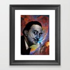 Salvador Dalí. (colored version) Framed Art Print