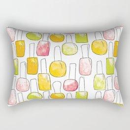 Nail Polish | Yellow Green Peach Pattern Rectangular Pillow