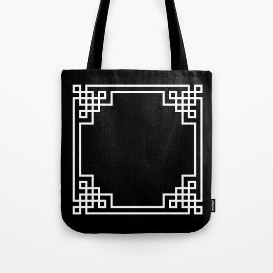Black White Lattice Tote Bag