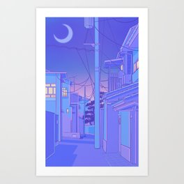 Japanese Night Art Print