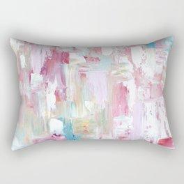 Pink Abstract Painting Rectangular Pillow
