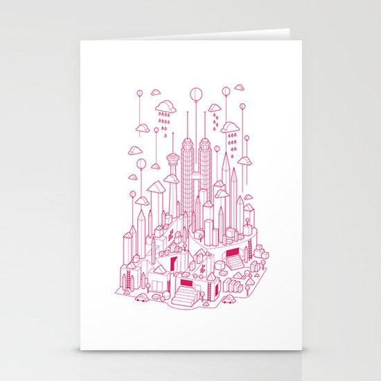 Kuala Lumpur (Red ver.) Stationery Cards