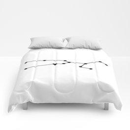 Taurus Star Sign Black & White Comforters