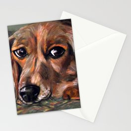 Dog Bagel Stationery Cards