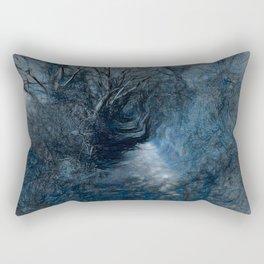 Blue Path Rectangular Pillow