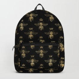 Black & Gold Queen Bee Pattern Backpack