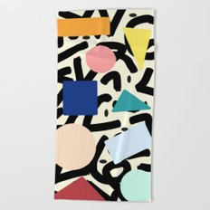 Burros de colores Beach Towel