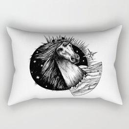 The Black Unicorn - Uniqueorn Rectangular Pillow