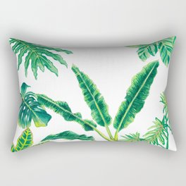 Tropical House Plants Rectangular Pillow