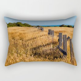 Golden Field By The Sea Rectangular Pillow