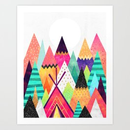 Land of Color Art Print