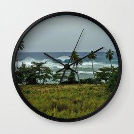 surf rincon pr Wall Clock