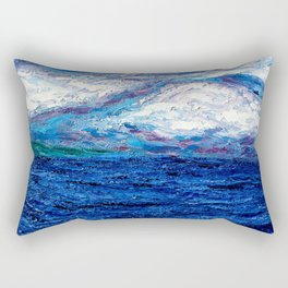 Cotton Candy Ocean Rectangular Pillow