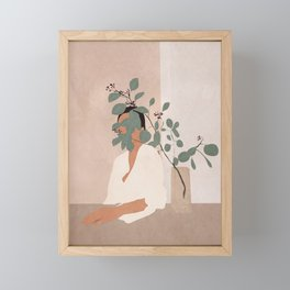 Behind the Leaves Framed Mini Art Print