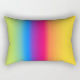 Ombre Bright Colors 1 Reversed Rectangular Pillow