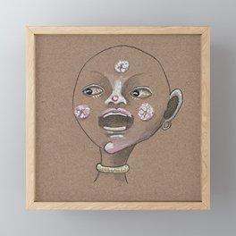 Moon boy singing moon song Framed Mini Art Print
